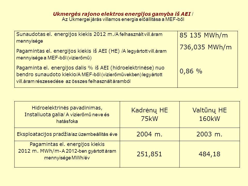 AEI perspektyvos šilumos sektoriuje Ukmergės rajone 2012–2020 metais / a MEF perspektivája a távfűtési szektorban Ukmergei járásban 2012-2020-ban -Ukmergės RK1, RK2 ir RK3 katilinėse bus įrengti nauji biokuro katilai; -UKmerge RK1,RK2 és RK3 kazánházaiban új biotüzelésű kazánokat szerelnek fel -Šil.