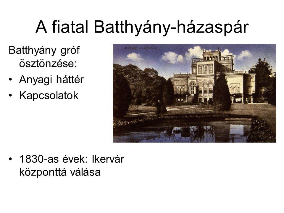 A fiatal Batthyány-házaspár Batthyány gróf ösztönzése: Anyagi háttér Kapcsolatok 1830-as évek: Ikervár központtá válása