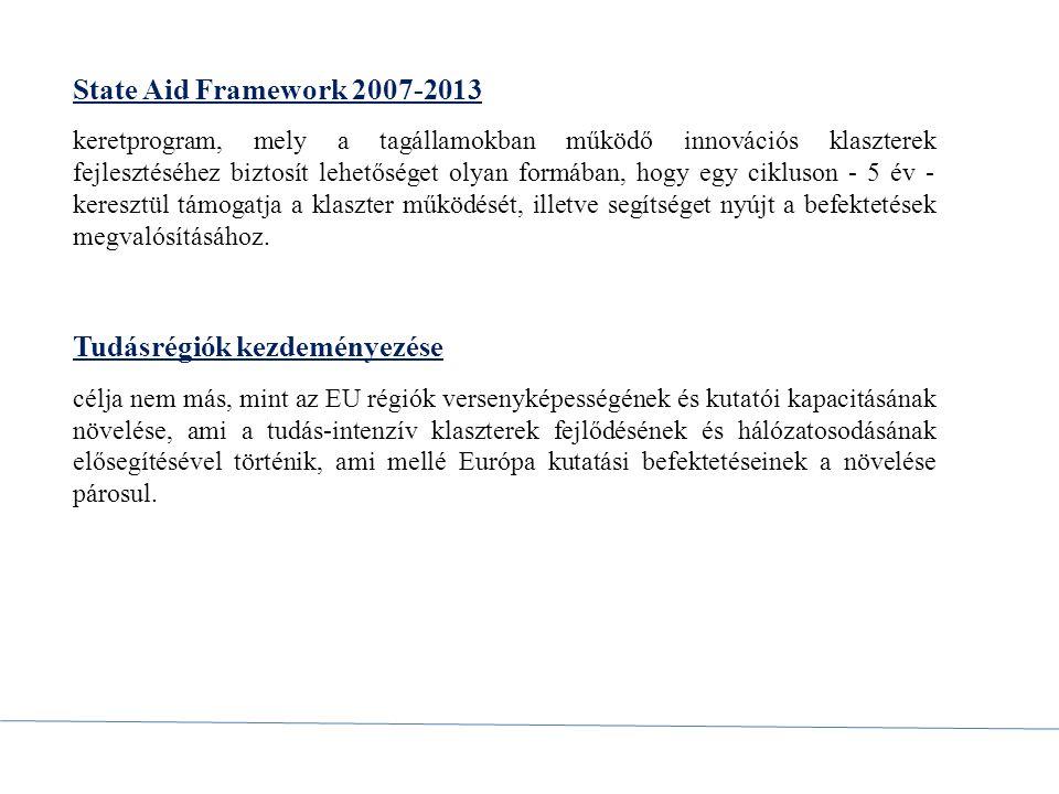 European Cluster Memorandum az Európai Közösség megbízásából 2007-ben dolgozták ki fő célja a klaszterek támogatásának és a klaszterpolitika fejlesztésének fontosságára való figyelmeztetés.