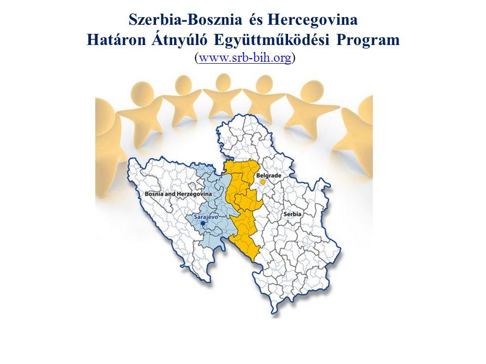 Bosznia és Hercegovina-Szerbia IPA Határon Átnyúló Együttműködési Program 2007-2013 A program célja: Az emberek, a közösségek és a gazdaság közeledése a programmal felölelt területen, hogy humán, természeti és gazdasági erőforrások alkalmazásával közösen részt vegyenek az együttműködési térség fejlesztésében.