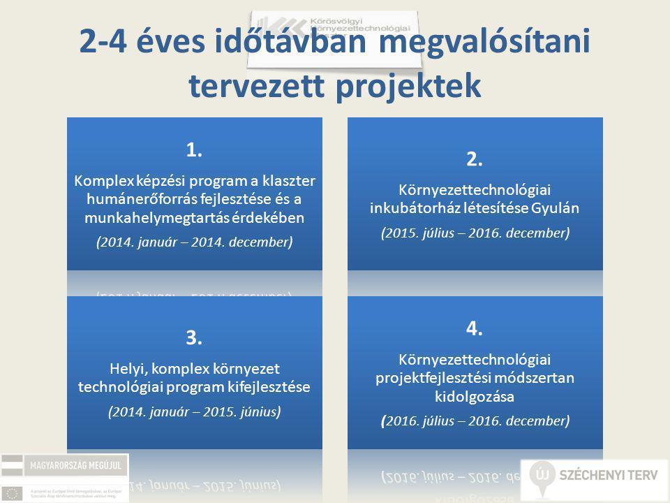 2-4 éves időtávban megvalósítani tervezett projektek 1.