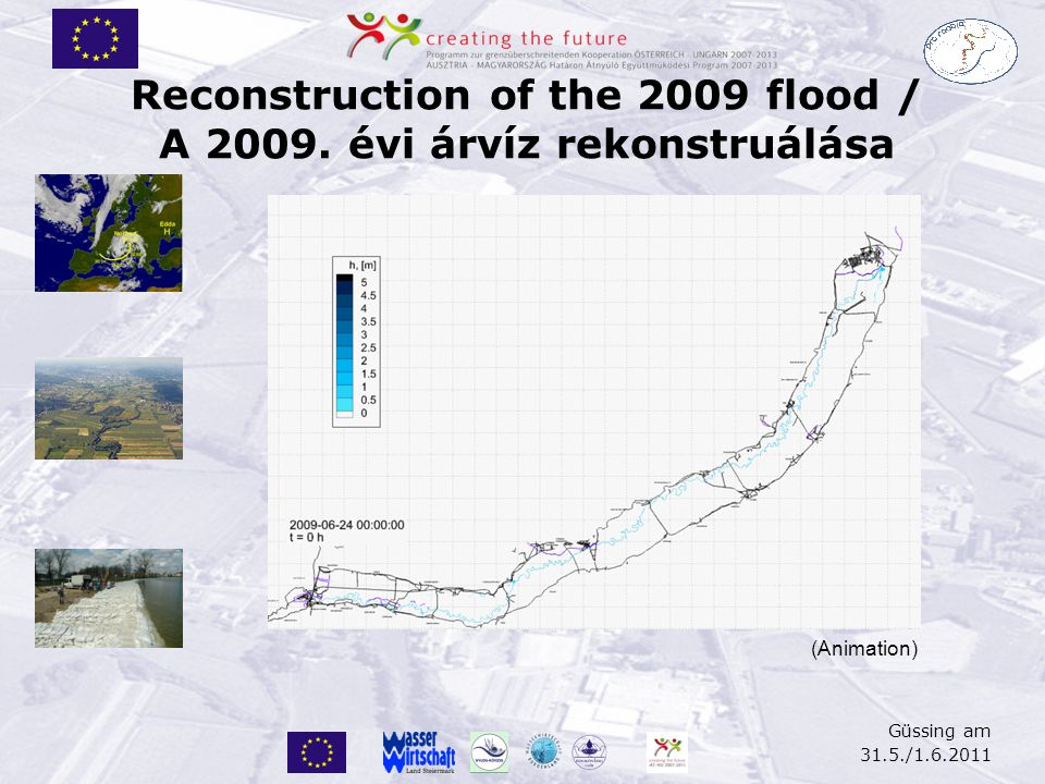 Reconstruction of the 2009 flood / A 2009. évi árvíz rekonstruálása (Animation)