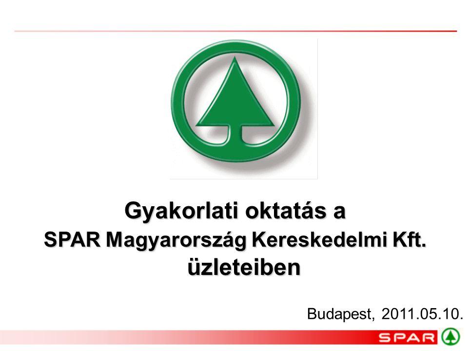 Gyakorlati oktatás a SPAR Magyarország Kereskedelmi Kft. üzleteiben Budapest, 2011.05.10.