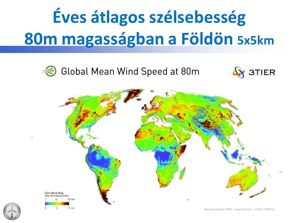 Szélenergia hasznosítás Európában  European Union – EU27: 93957 MW Ebből offshore: 3810MW  European Union – EU15: 89670MW  European Union – EU12: 4287MW  Candidate Countries (TR, HR): 1930 MW  EFTA (Norvégia, Svájc): 565 MW  Más (Ukrajna, Faroe szigetek): 164MW Total Europe: 96607 MW EWEA, 2012