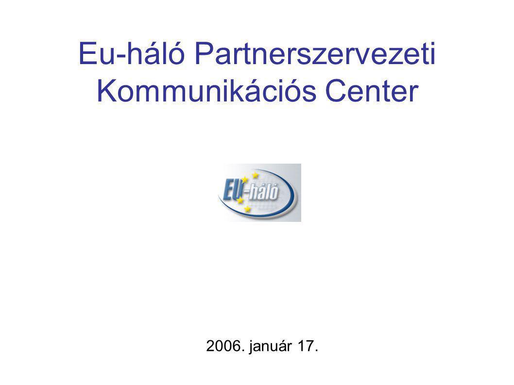 Eu-háló Partnerszervezeti Kommunikációs Center 2006. január 17.