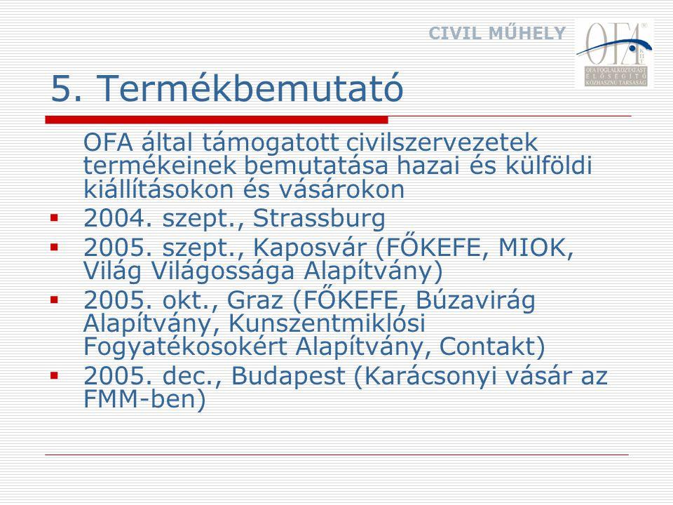 6.Országos Civil Foglalkoztatási Konferencia III.OCFK 2005.