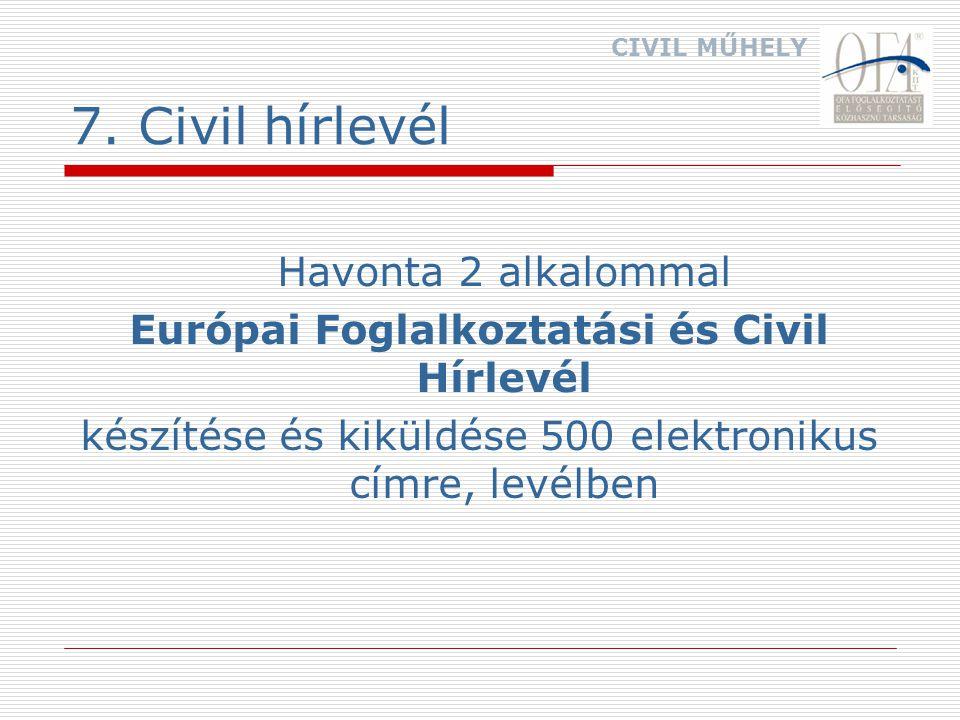 8. Civil honlap http://www.ofakht.hu/civilkapcs/ civilkapcsfr.htm CIVIL MŰHELY