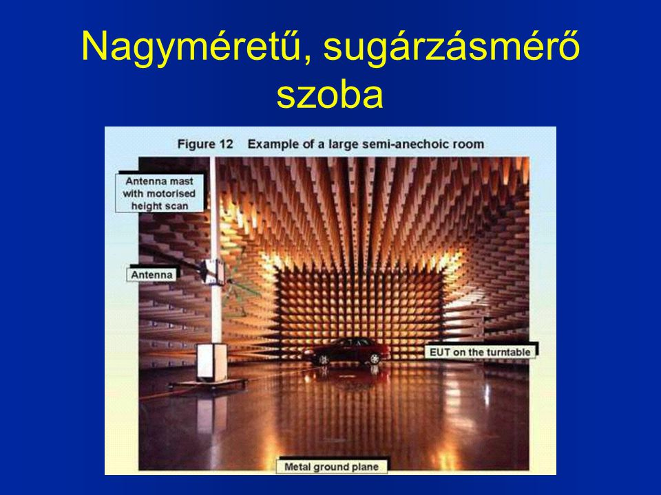 Nagyméretű, sugárzásmérő szoba