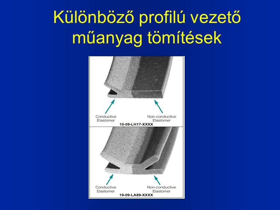 Különböző profilú vezető műanyag tömítések