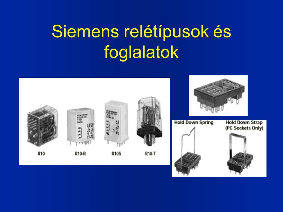Siemens relétípusok és foglalatok