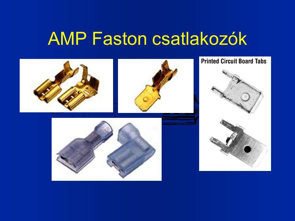 AMP Faston csatlakozók