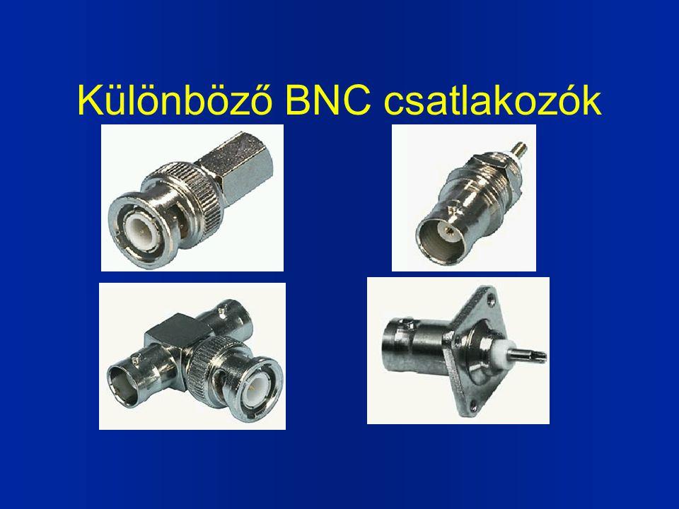 Különböző BNC csatlakozók
