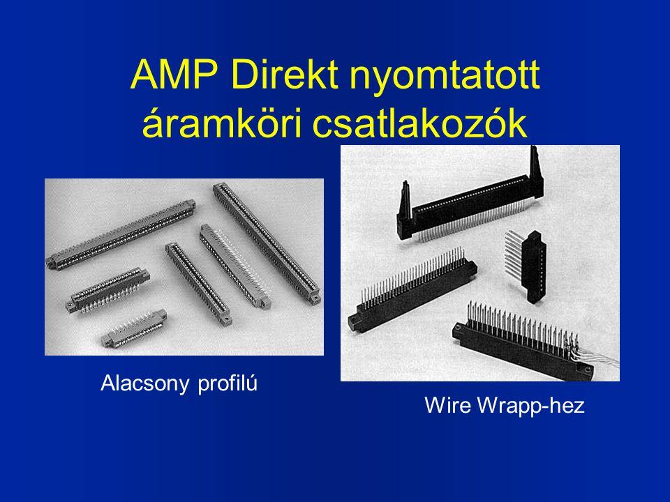 AMP Direkt nyomtatott áramköri csatlakozók Alacsony profilú Wire Wrapp-hez
