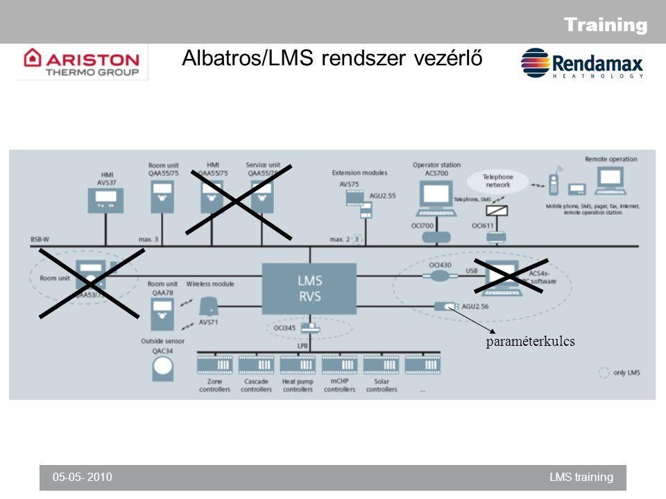 Training 05-05- 2010LMS training Albatros/LMS rendszer vezérlő paraméterkulcs