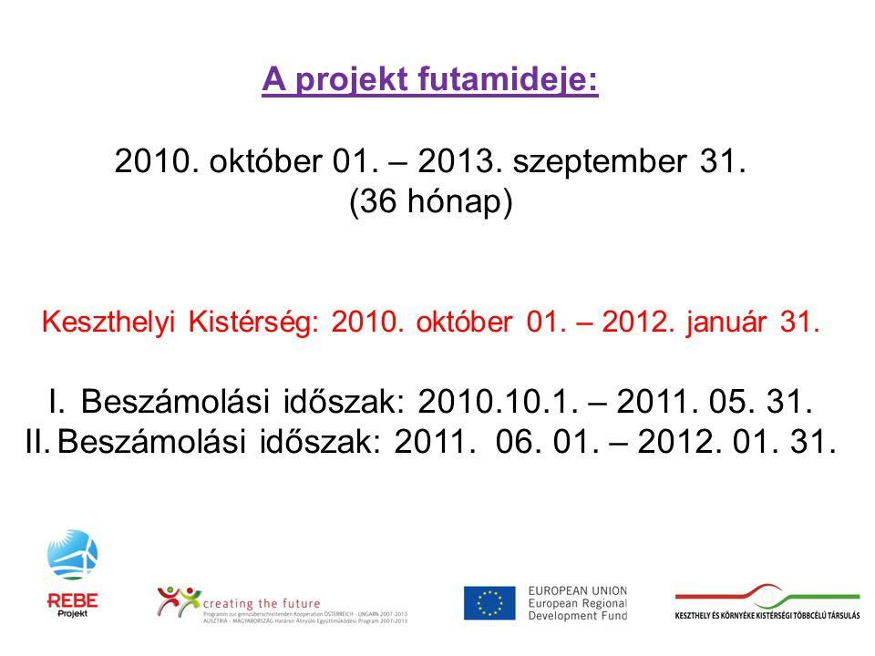 A projekt futamideje: 2010. október 01. – 2013. szeptember 31.
