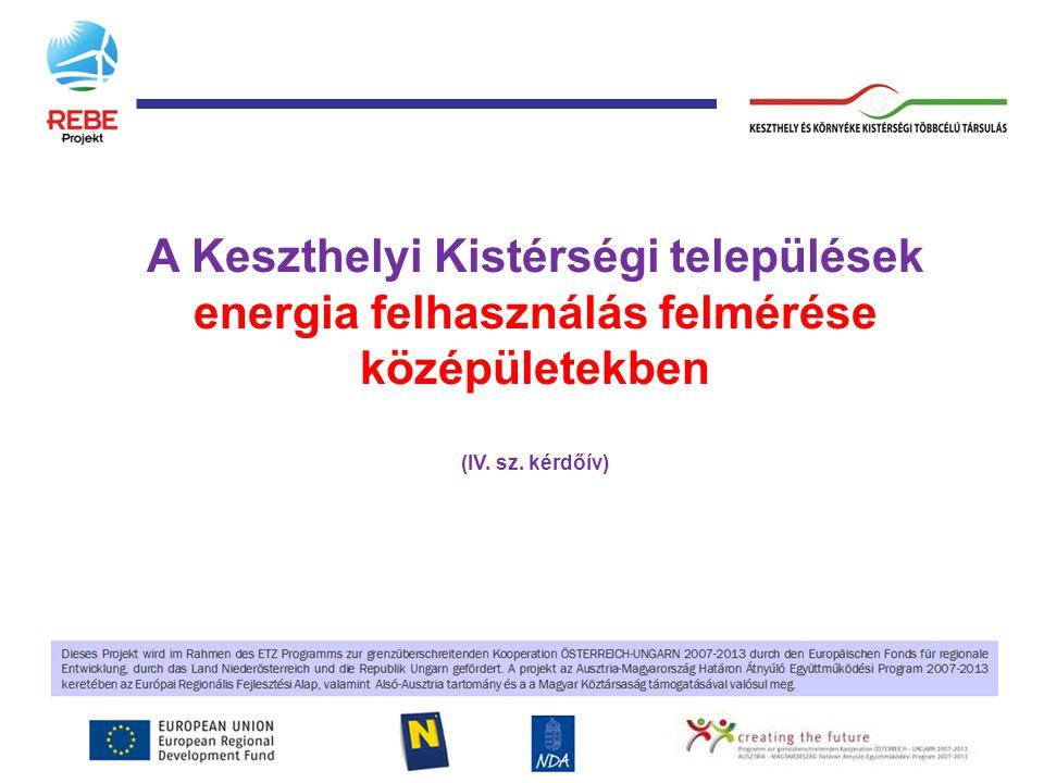 A Keszthelyi Kistérségi települések energia felhasználás felmérése középületekben (IV. sz. kérdőív)