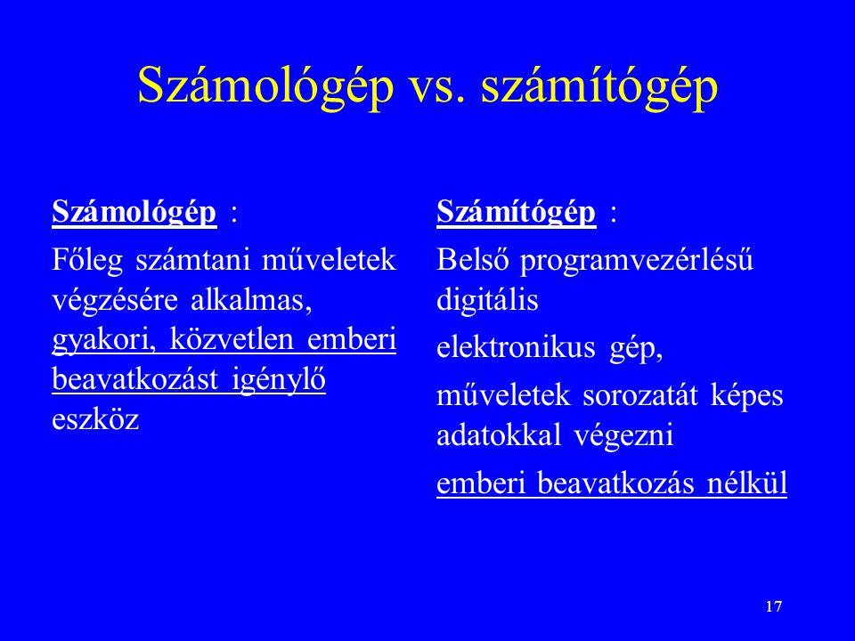 17 Számológép vs.