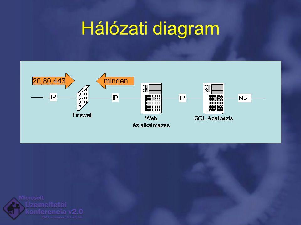 Hálózati diagram 20,80,443minden