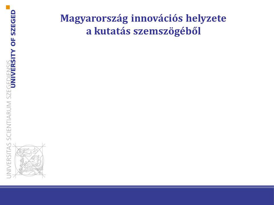 A kutatói szféra hatékonysága Forrás: Innovation Union Progress at Country Level (2013)
