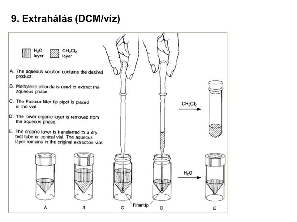 9. Extrahálás (éter/víz)
