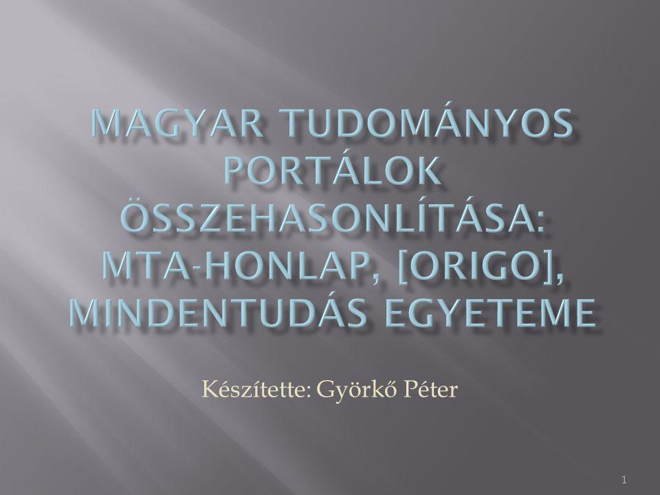Készítette: Györkő Péter 1