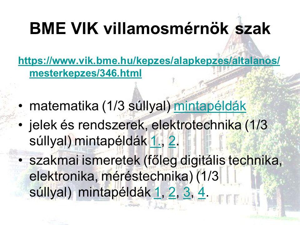 BME VIK villamosmérnök szak https://www.vik.bme.hu/kepzes/alapkepzes/altalanos/ mesterkepzes/346.html matematika (1/3 súllyal) mintapéldákmintapéldák