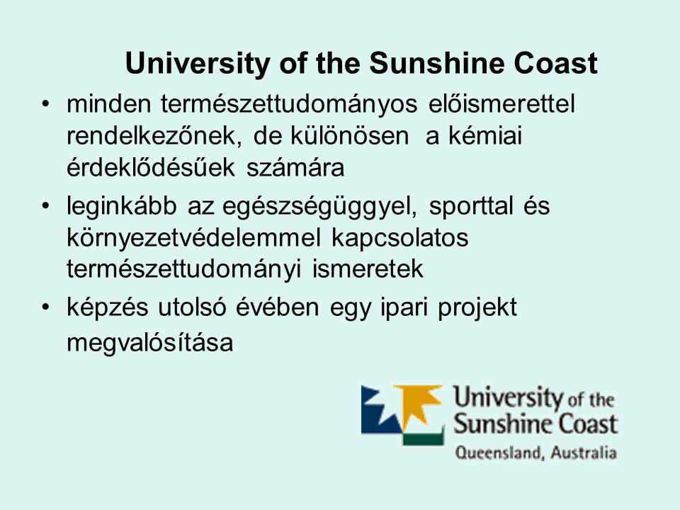University of the Sunshine Coast minden természettudományos előismerettel rendelkezőnek, de különösen a kémiai érdeklődésűek számára leginkább az egés