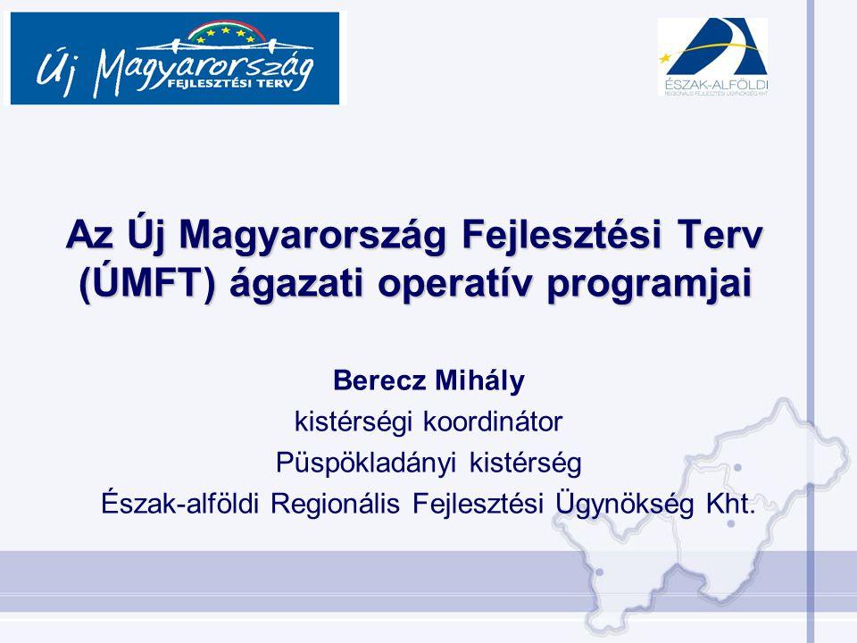 Berecz Mihály kistérségi koordinátor Püspökladányi kistérség Észak-alföldi Regionális Fejlesztési Ügynökség Kht.