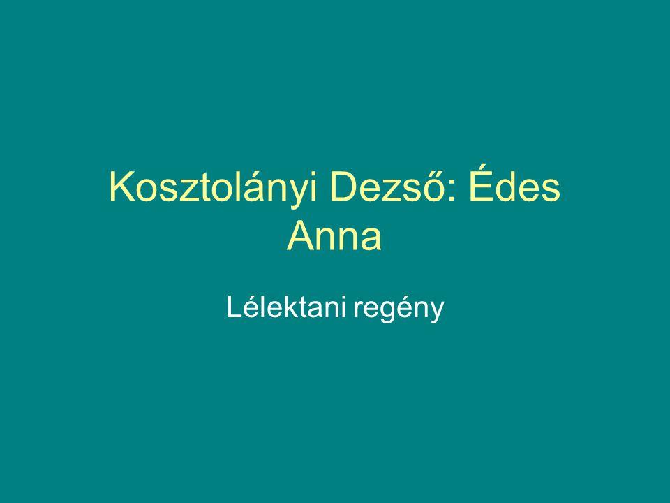 Kosztolányi Dezső: Édes Anna Lélektani regény