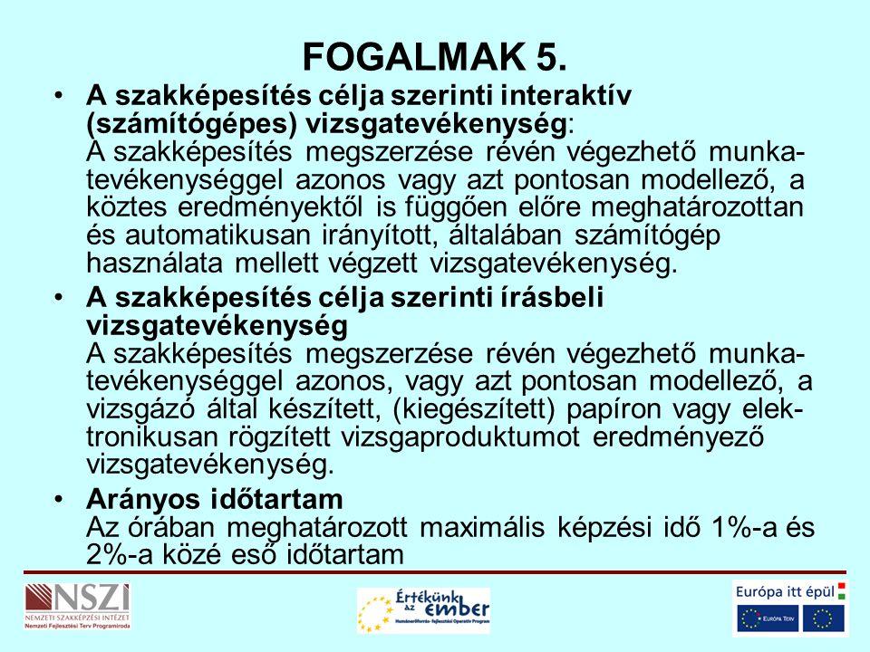 FOGALMAK 5.