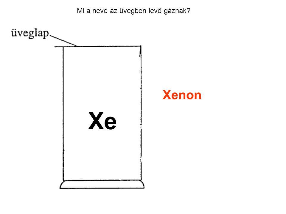 Mi a neve az üvegben levő gáznak? Xenon Xe
