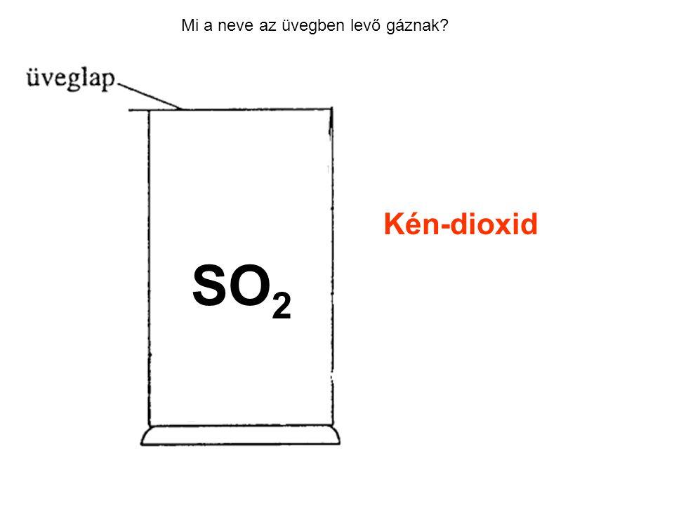 Mi a neve az üvegben levő gáznak? Kén-dioxid SO 2