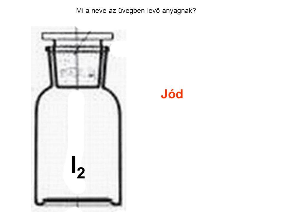 Mi a neve az üvegben levő anyagnak? Jód HCl I2I2
