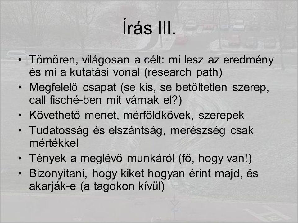 Írás III.