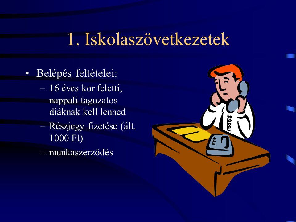 1. Iskolaszövetkezetek Belépés feltételei: –16 éves kor feletti, nappali tagozatos diáknak kell lenned –Részjegy fizetése (ált. 1000 Ft) –munkaszerződ