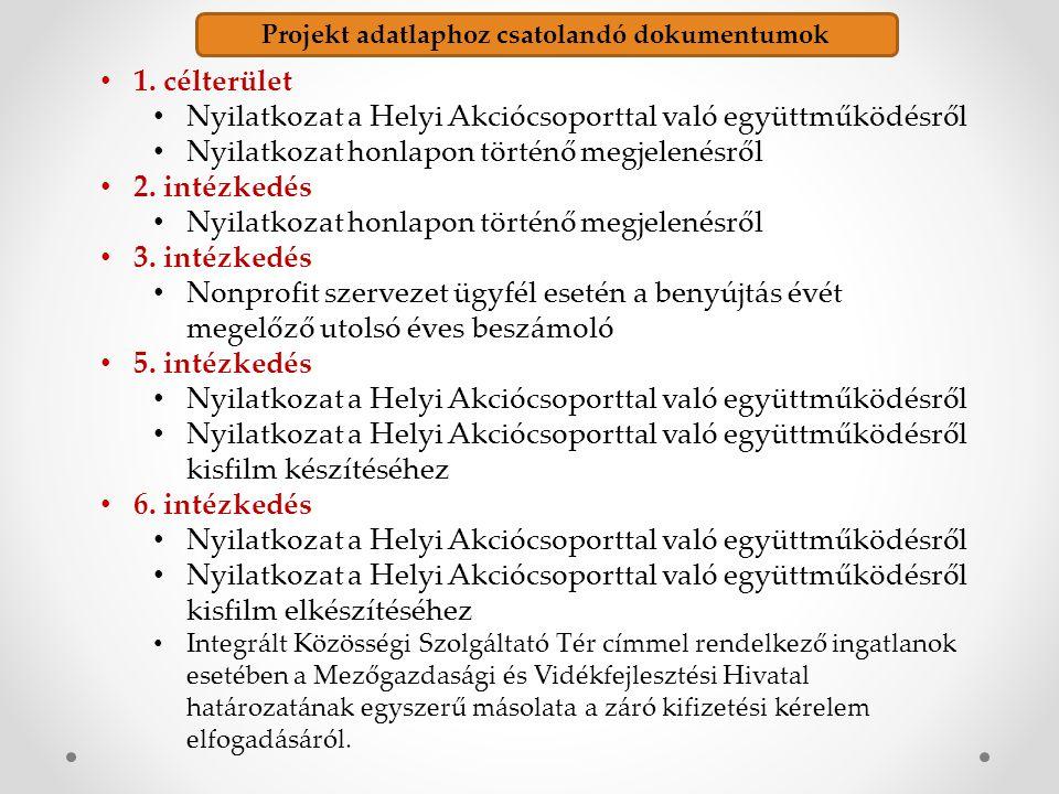Projekt adatlaphoz csatolandó dokumentumok 1.