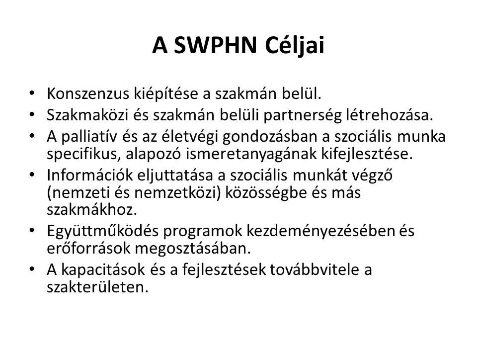 A SWPHN Céljai Konszenzus kiépítése a szakmán belül.