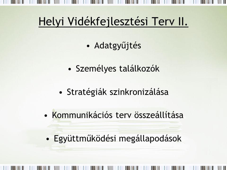 Helyi Vidékfejlesztési Terv II.