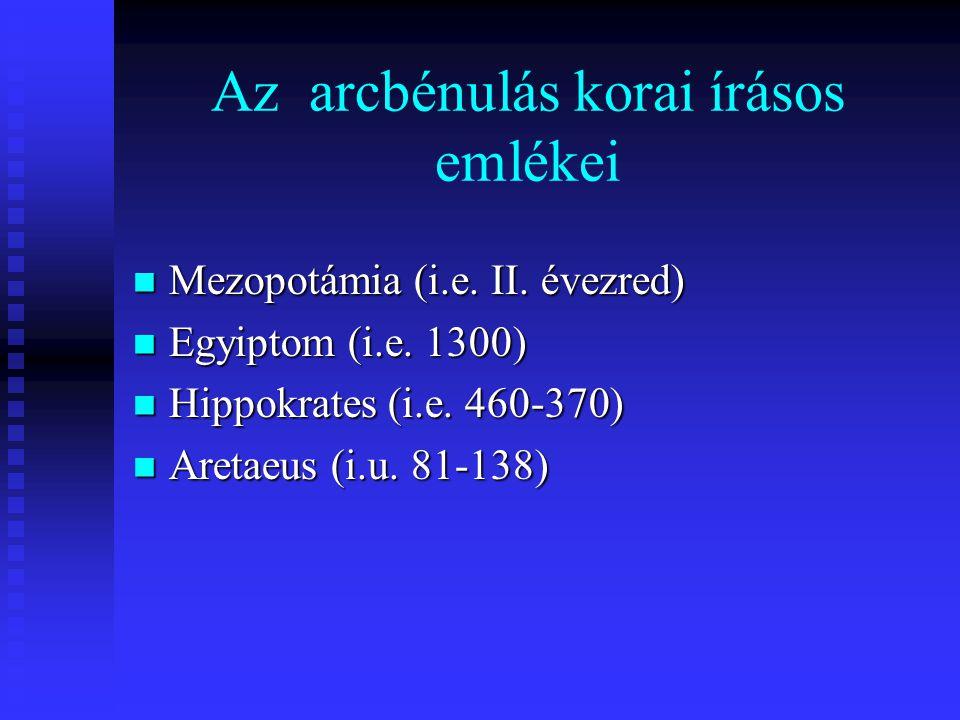 Az arcbénulás korai írásos emlékei Mezopotámia (i.e.
