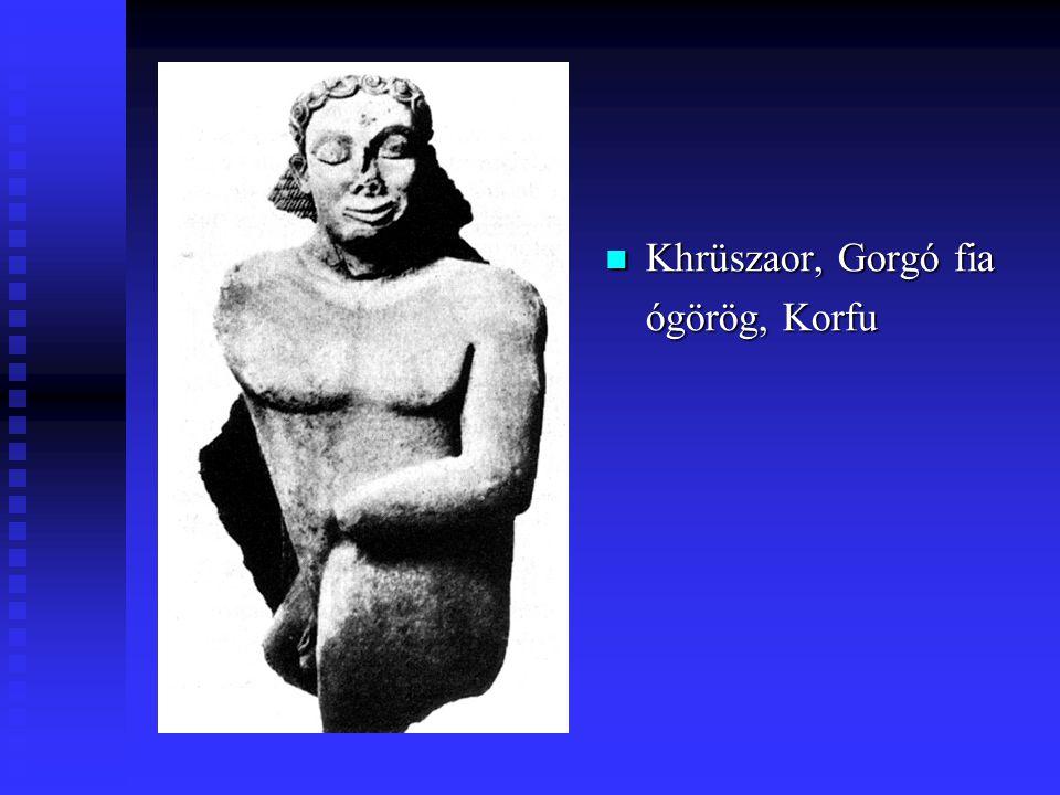 Khrüszaor, Gorgó fia ógörög, Korfu