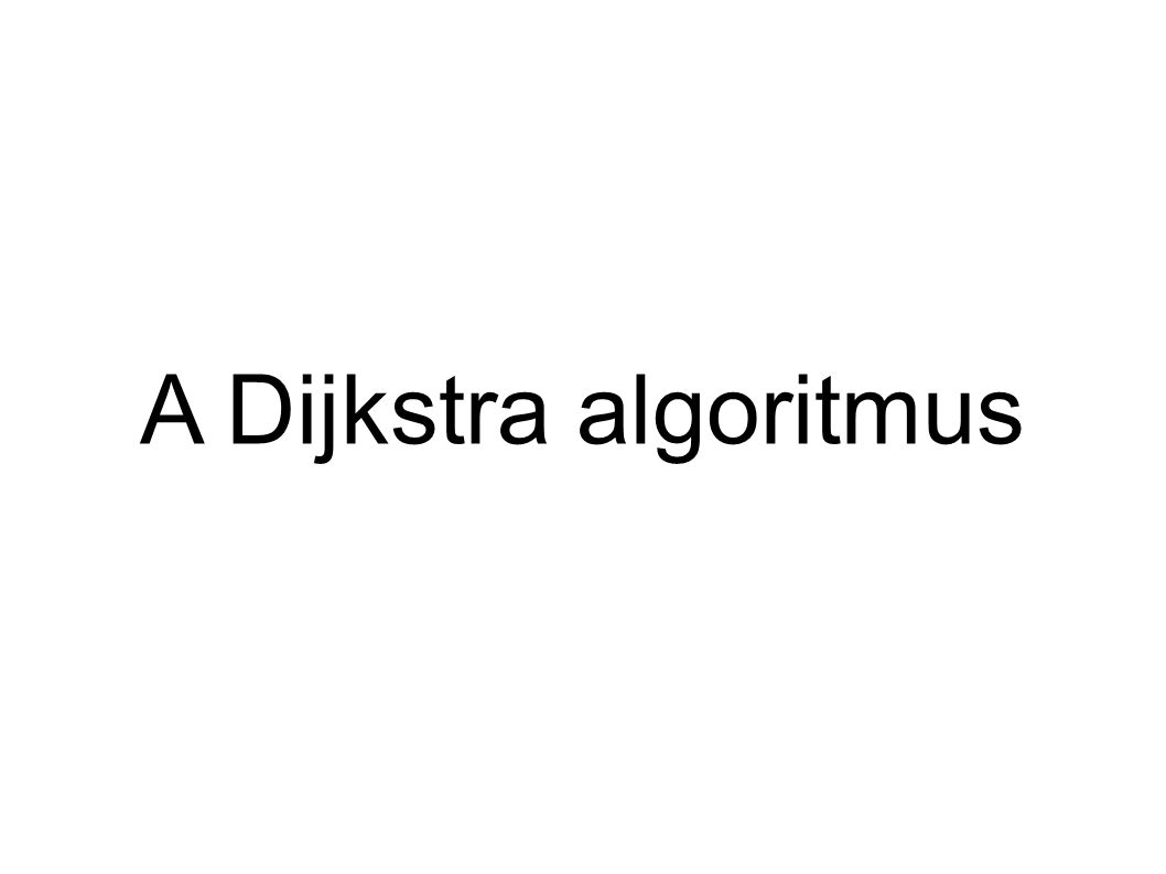Mi az a Dijkstra algoritmus.