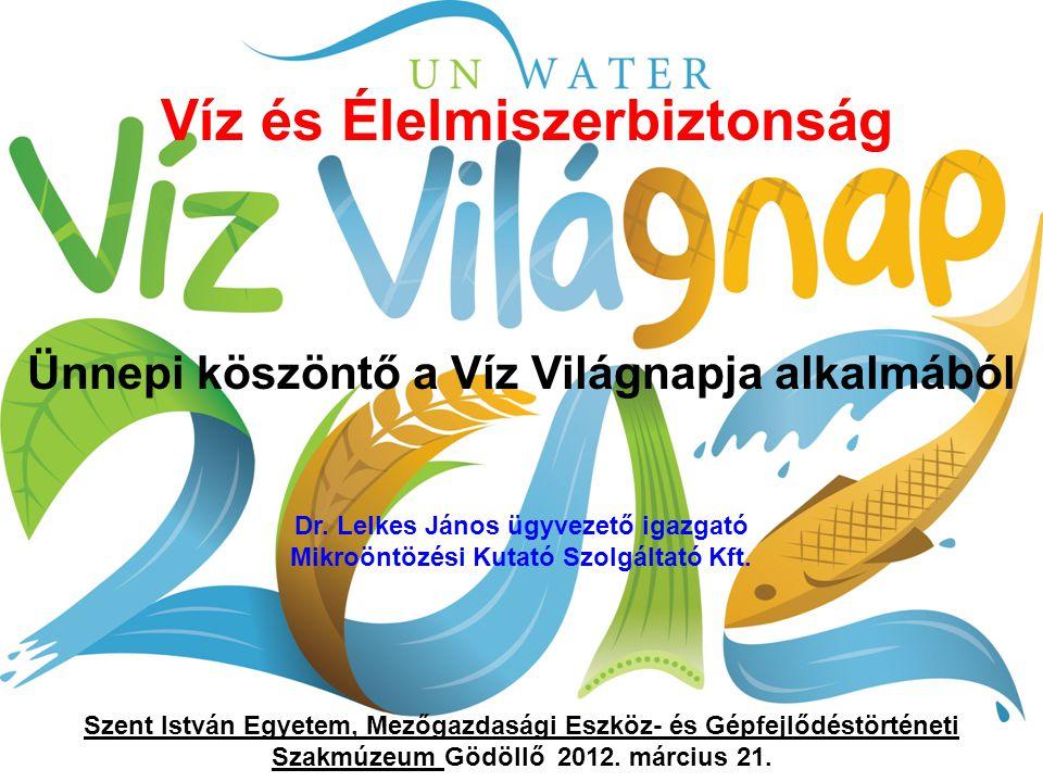 A Víz Világnapját 1992 óta ünnepeljük, amikor az ENSZ a Rio de Janeiró-i környezetvédelmi konferenciáján a résztvevők kezdeményezték, hogy március 22-e legyen világnap.