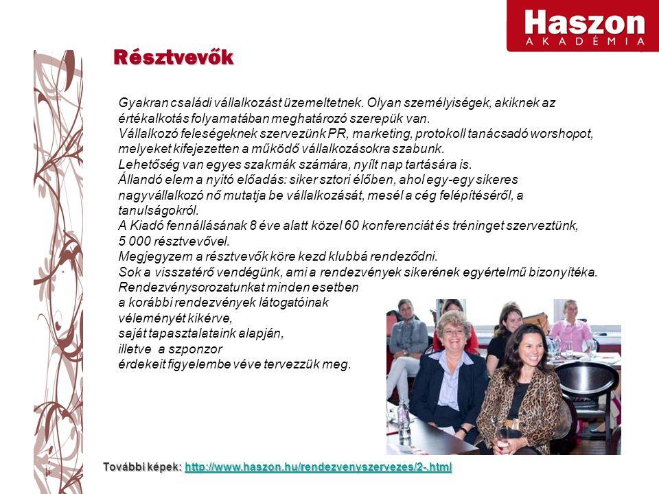 További képek: http://www.haszon.hu/rendezvenyszervezes/2-.html http://www.haszon.hu/rendezvenyszervezes/2-.html Gyakran családi vállalkozást üzemeltetnek.
