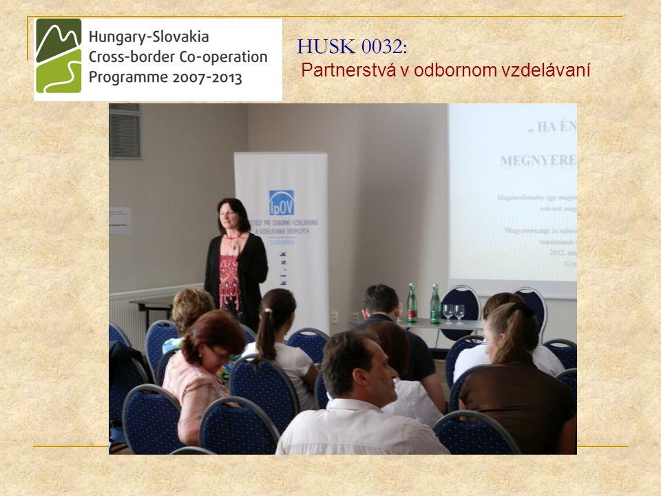 HUSK 0032: Partnerstvá v odbornom vzdelávaní