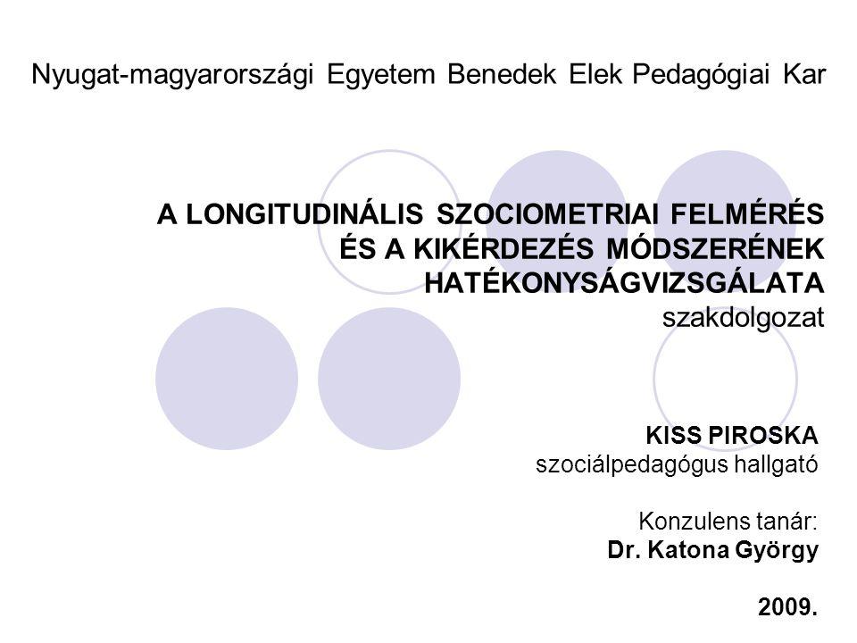 SZAKDOLGOZAT VÉDÉS - 2009 Előadásvázlat A probléma bemutatása A kutatás célja Szakirodalom feldolgozása A kutatás hipotézisei A kutatási módszerei, mintája Adatok Eredmények, következtetések