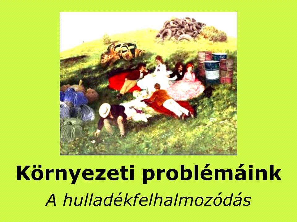Környezeti problémáink A hulladékfelhalmozódás