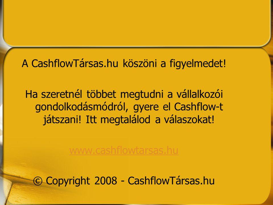 A CashflowTársas.hu köszöni a figyelmedet! Ha szeretnél többet megtudni a vállalkozói gondolkodásmódról, gyere el Cashflow-t játszani! Itt megtalálod