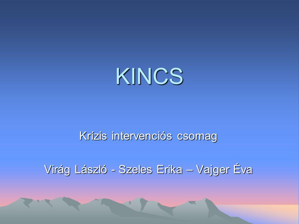 KINCS Krízis intervenciós csomag Virág László - Szeles Erika – Vajger Éva