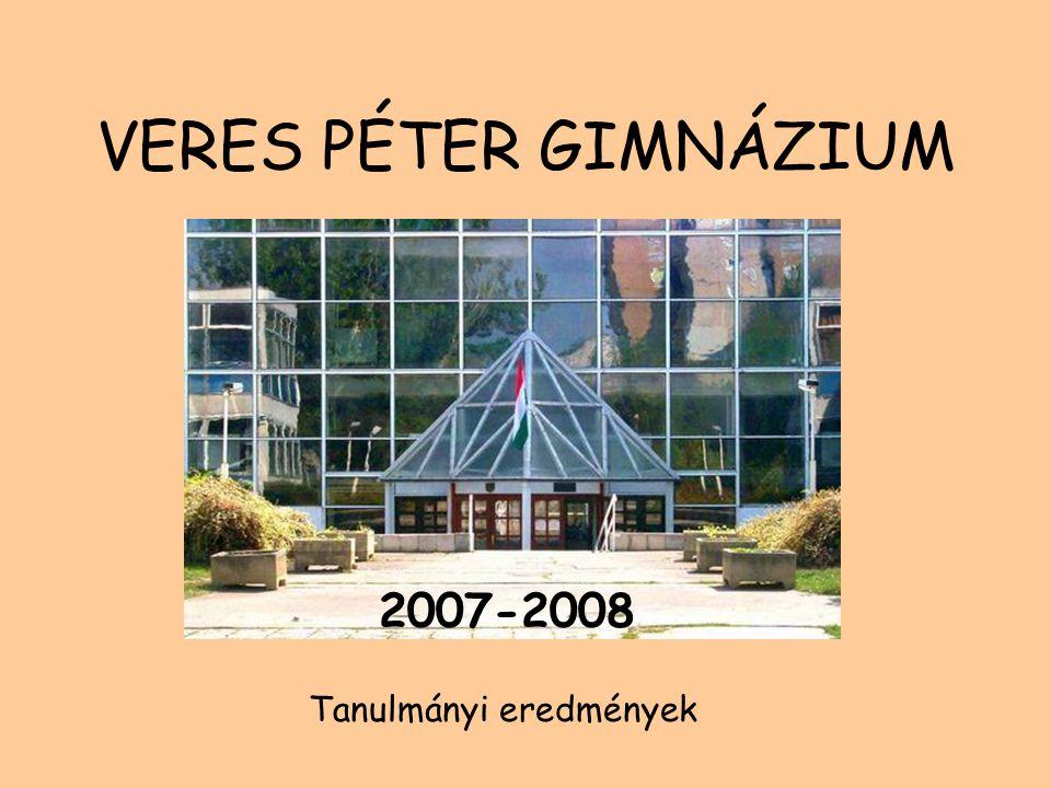 VERES PÉTER GIMNÁZIUM 2007-2008 Tanulmányi eredmények