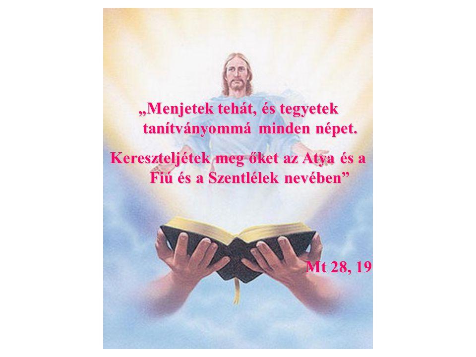 """Anyaga: víz Formája: szavak """"N megkeresztellek téged az Atya és a Fiú és a Szentlélek nevében Vízzel való leöntés e szavak kíséretében."""